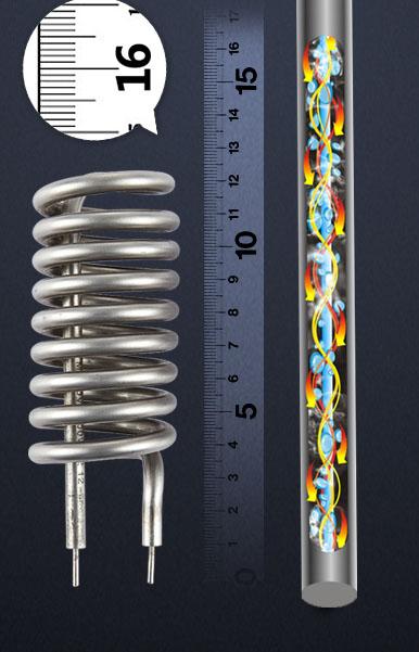 Waschtisch Armatur Modell 30 mit integriertem Durchlauferhitzer aus Edelstahl
